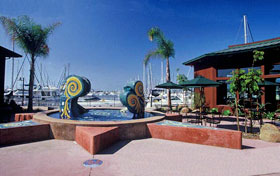 Sun Harbor Marina Fountain